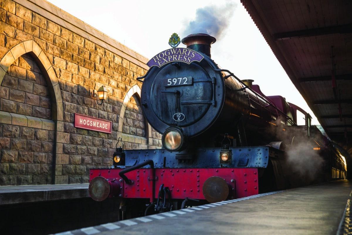 Hogwarts Express Train with steam