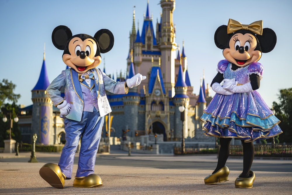 Mickey and Minnie Mouse in new costumes