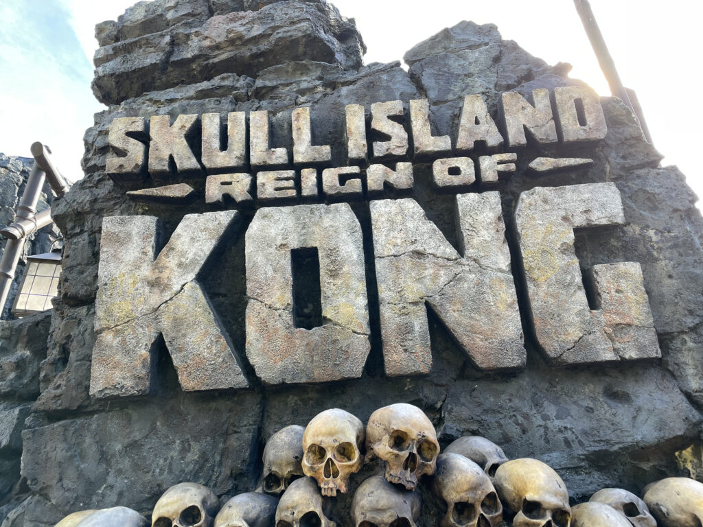Attraction sign in rocks and skulls