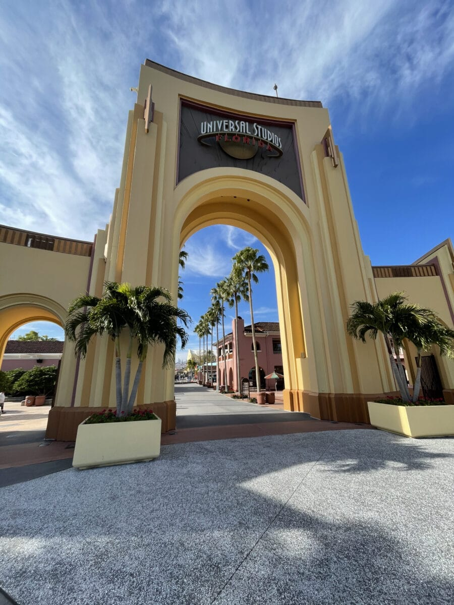 Universal Archway entrance with trees