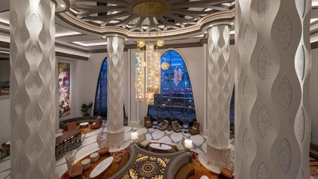 Lobby and pillars