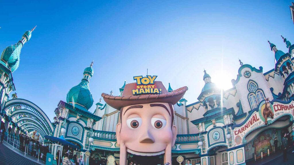 Giant Sheriff Woody head attraction opening