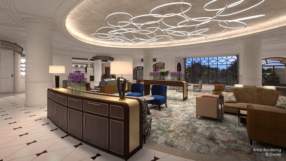 Hotel lobby with furniture