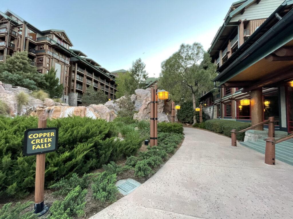 Wilderness Lodge and rocks
