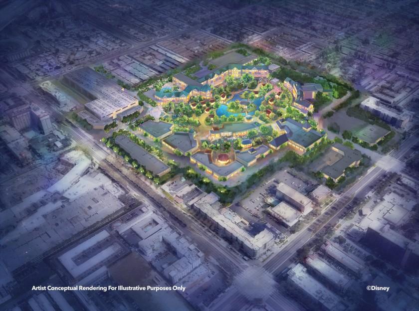 Artist rendering of theme park