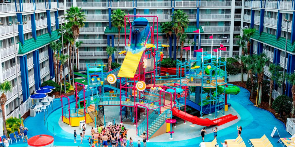 Water park at hotel pool
