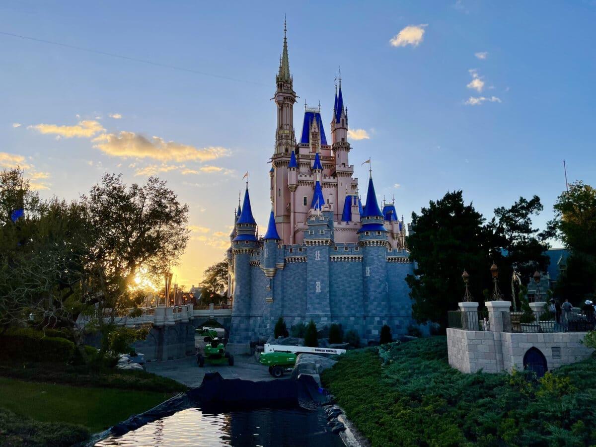 Sunset on Cinderella's Castle