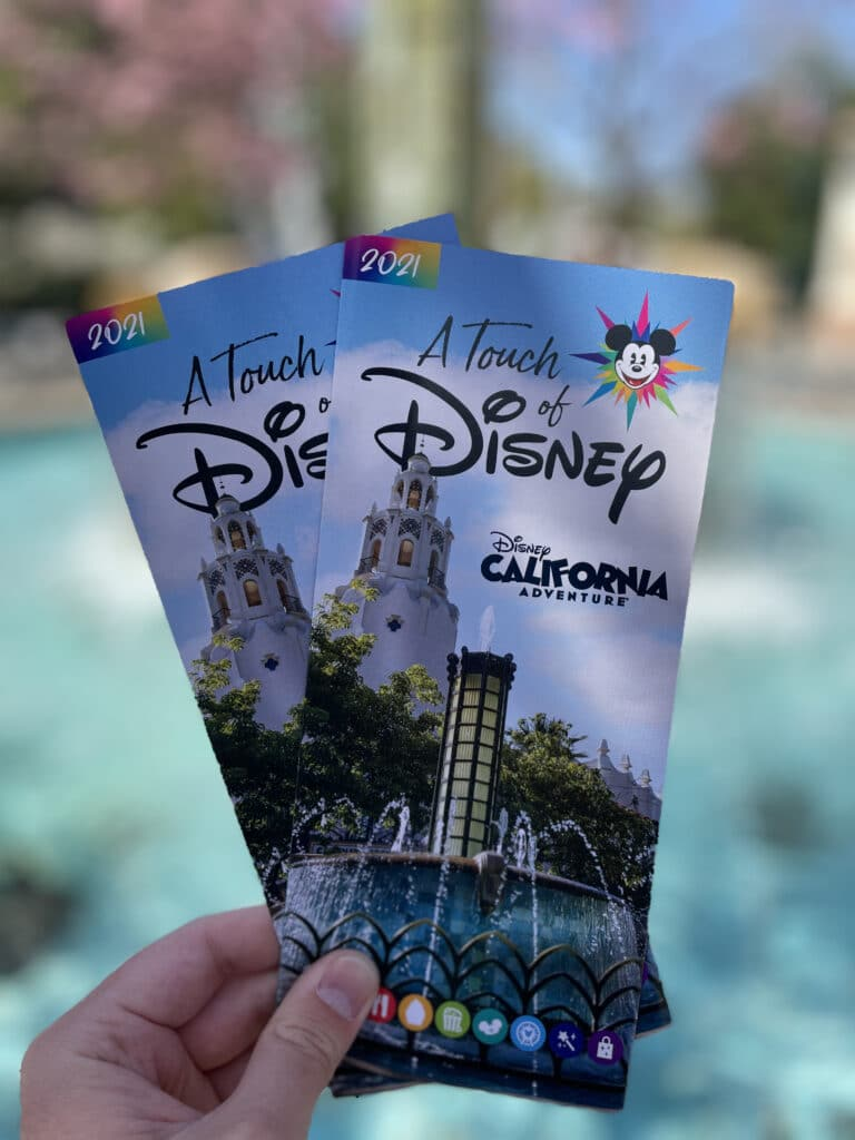 Pamphlets for a Touch of Disney