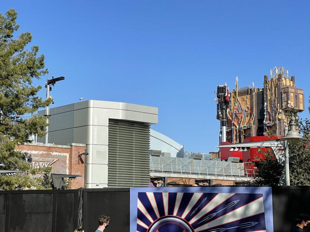New land under construction at Disneyland