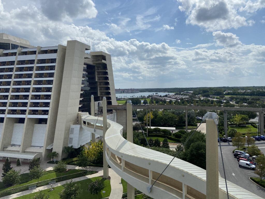 Monorail into Contemporary Hotel