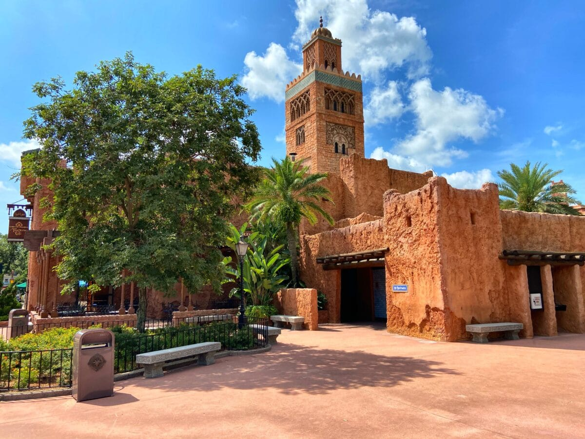 Moroccan Buildings and tree