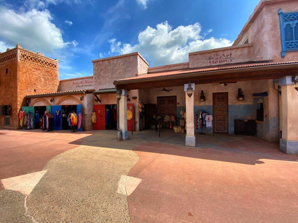 Moroccan shops at Epcot