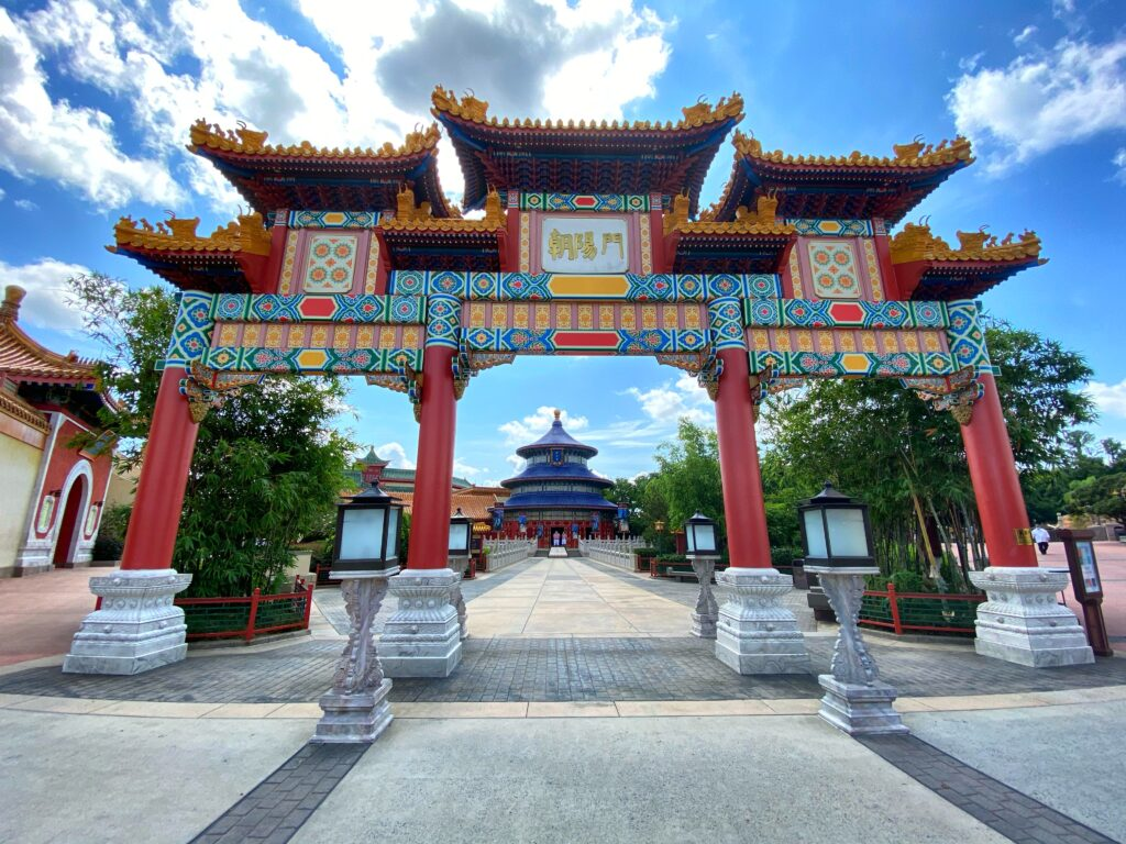 China gate and building at Epcot