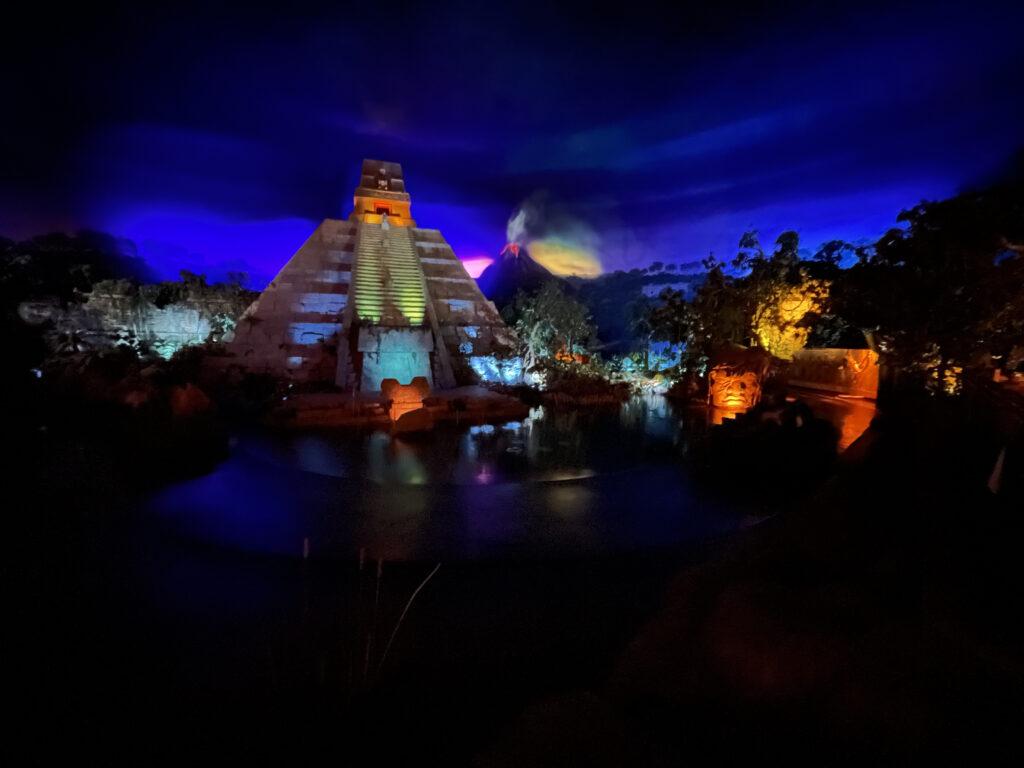 San Angel Pyramid at night