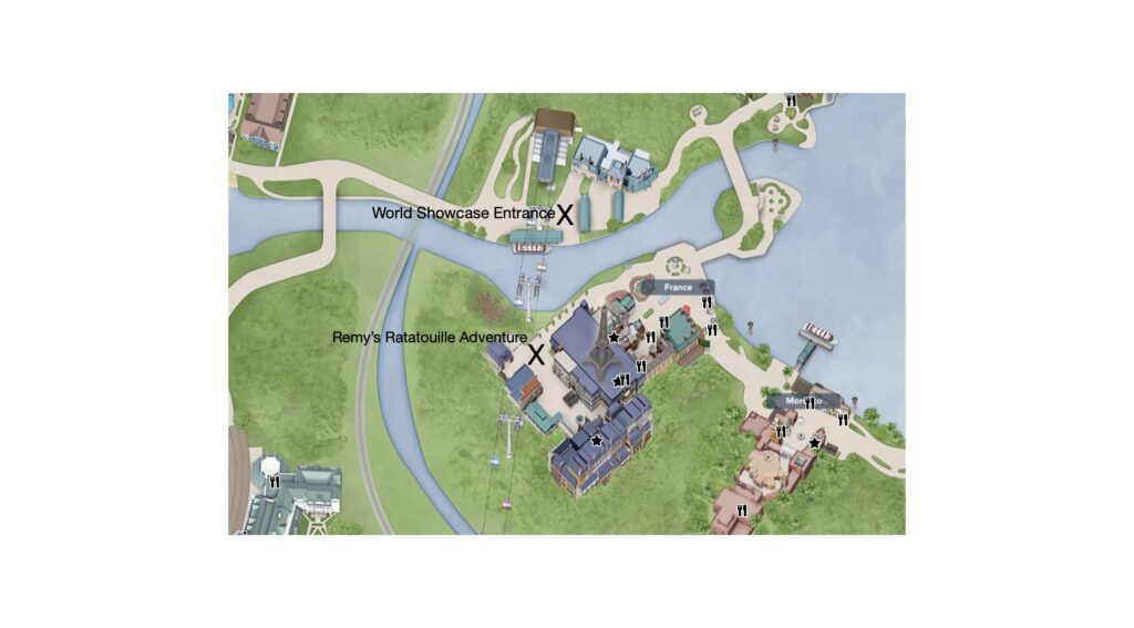Map of Epcot entrance