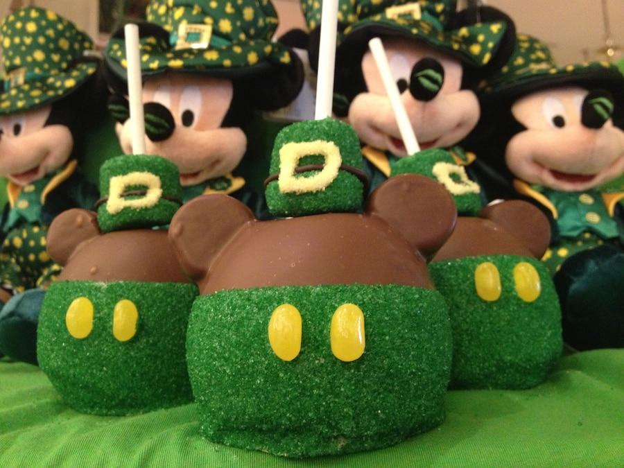St. Patrick's Carmel Apples and Mickey's