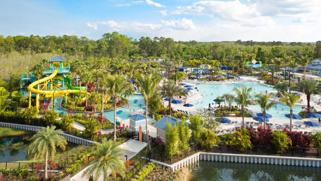 Resort hotel with large water park