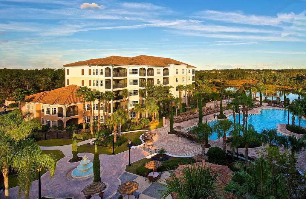 Hotel resort from overhead