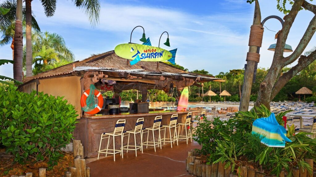 Drink shack with bar seating