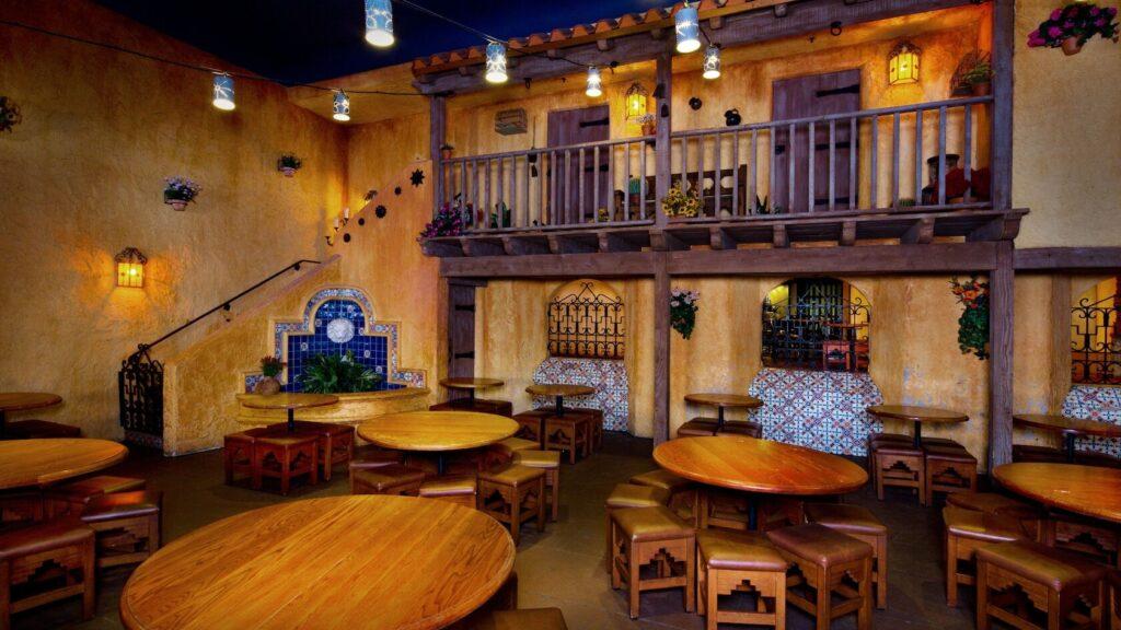 Inside Spanish-style restaurant