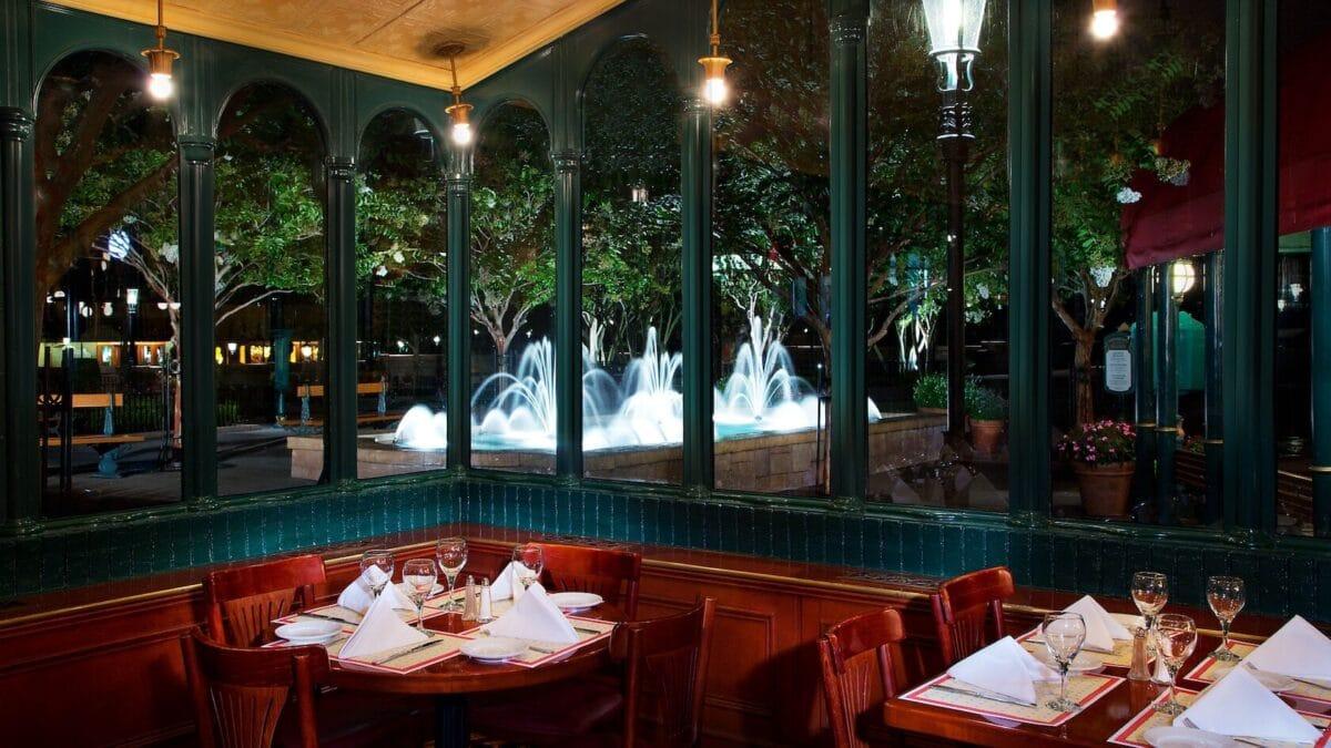 Interior of French restaurant