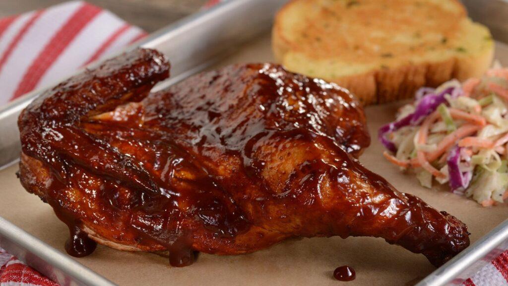 BBQ chicken and slaw