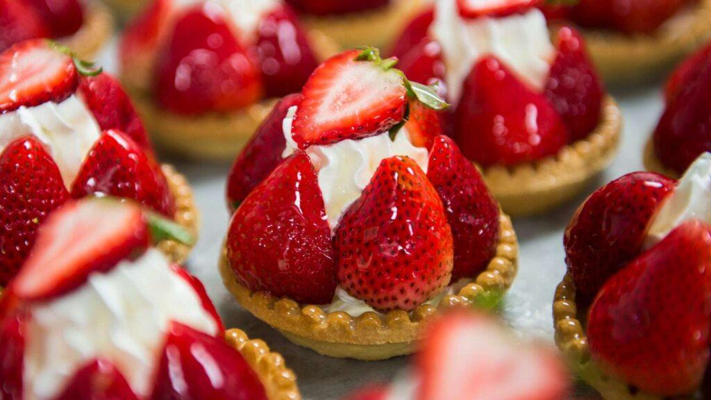 Strawberry pastry desserts
