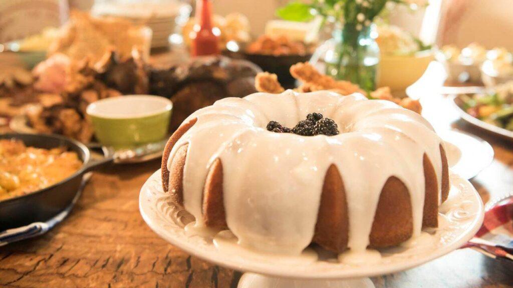 Bundt Cake on platter