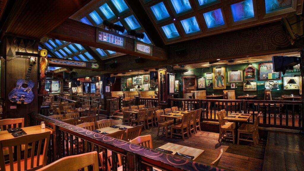 Dining room at restaurant