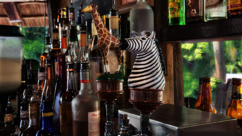 Animal carvings on beer tabs