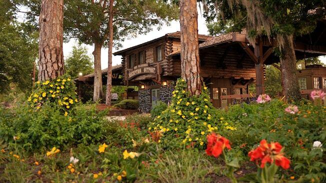 Lodge with foliage