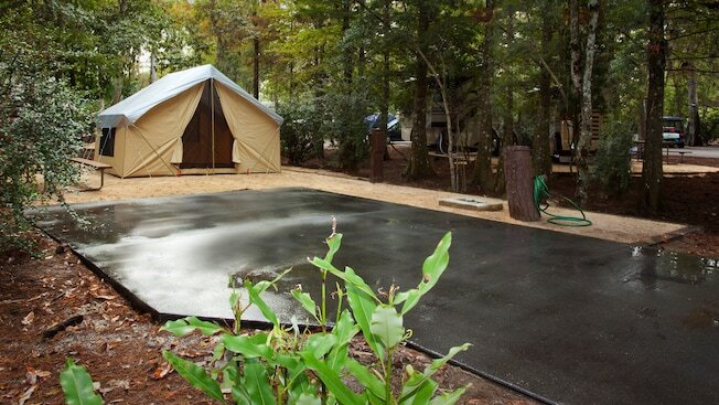 Tent site at Fort Wilderness