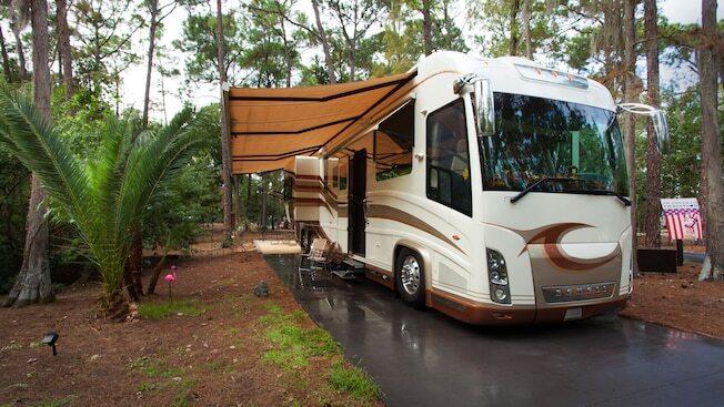 RV camper at campsite