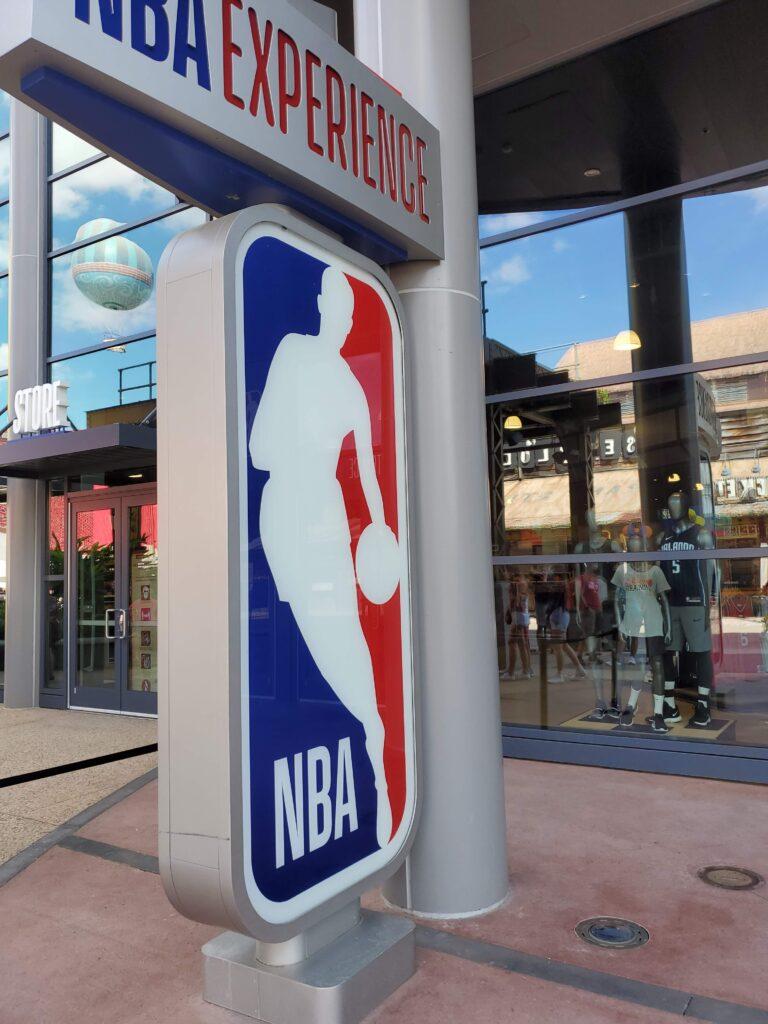 NBA logo signage