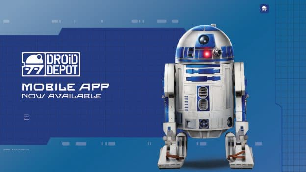 R2-D2 banner with mobile text
