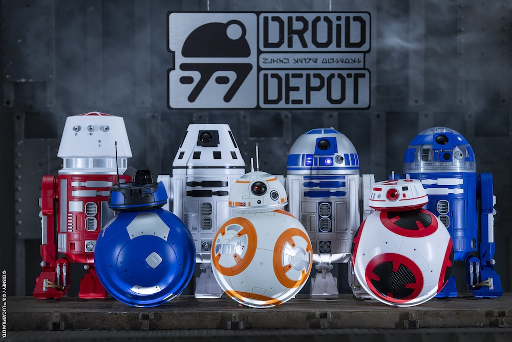 Several droids grouped together