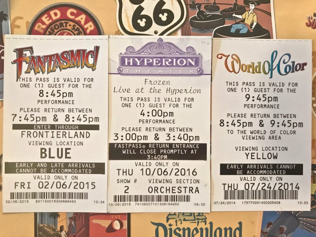 FASTPASS show tickets