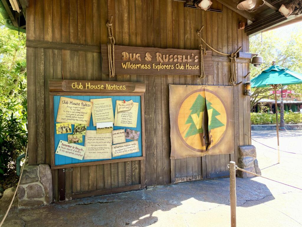 Wilderness Explorers shack with stapleboard