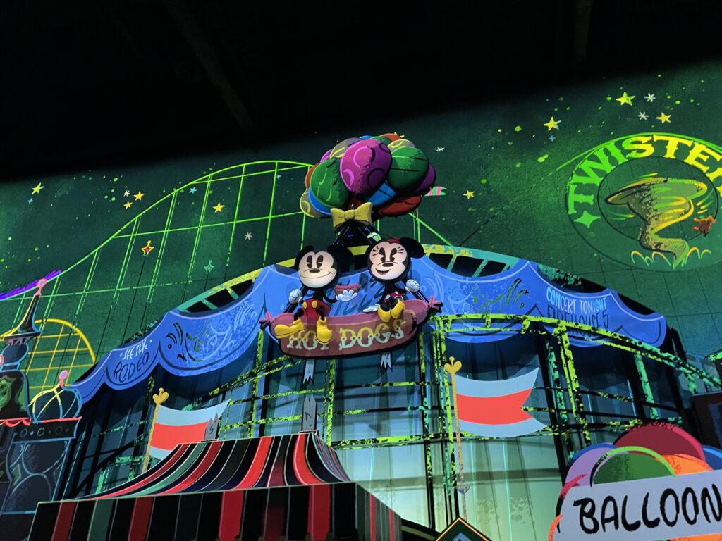 Mickey and Minnie on a ballon