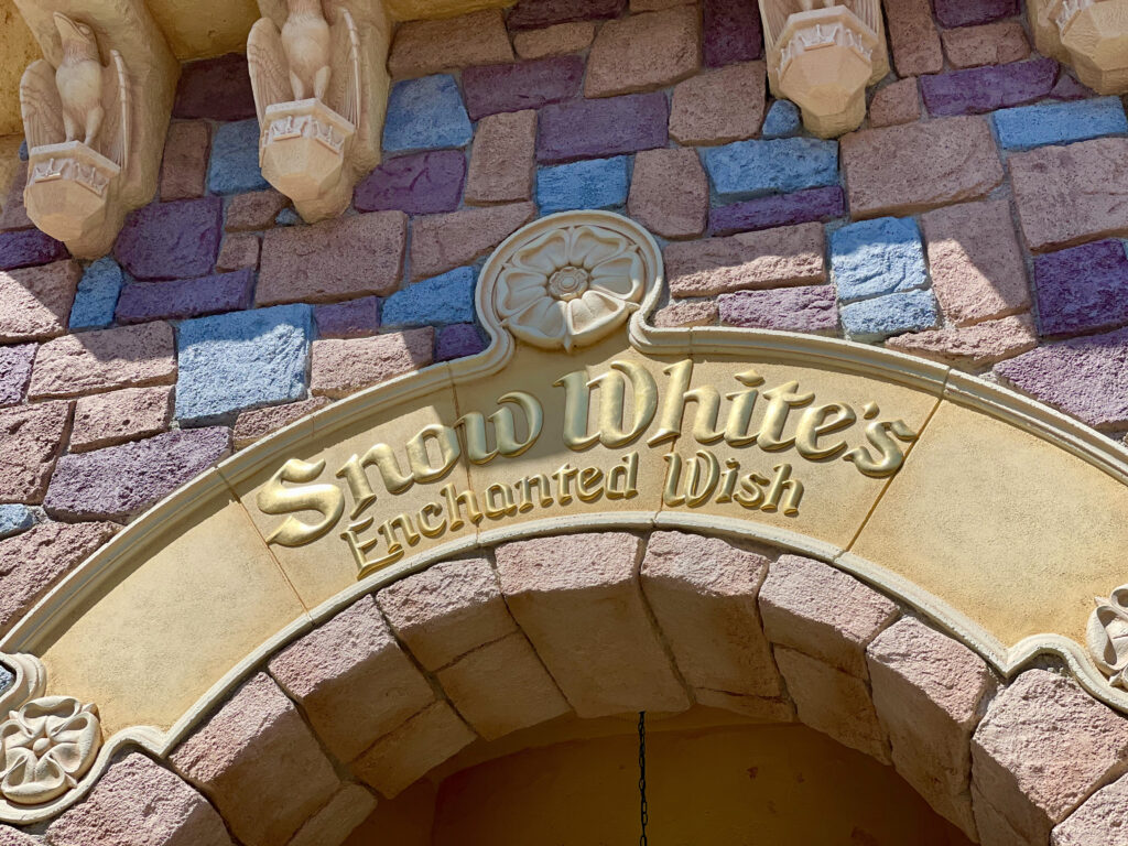 Signage for Snow White attraction