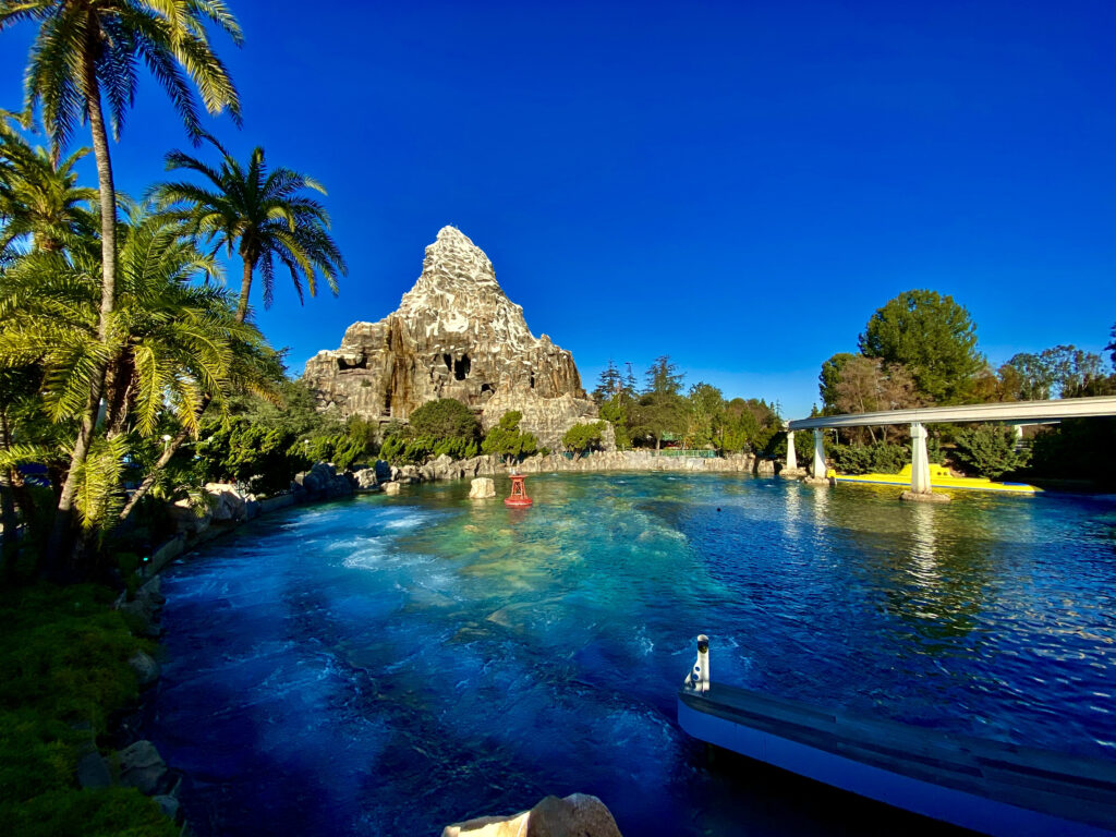 Matterhorn Mountain attraction with submarine pool