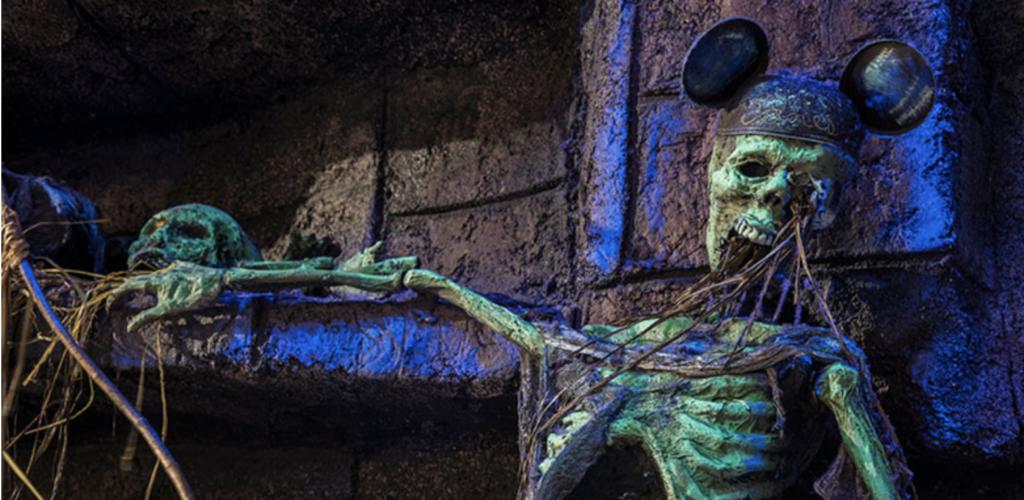 Skeleton wearing Mickey Ears