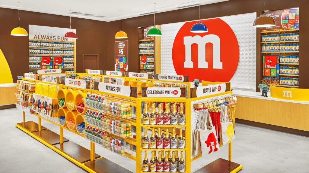 M&M merchandise and candy