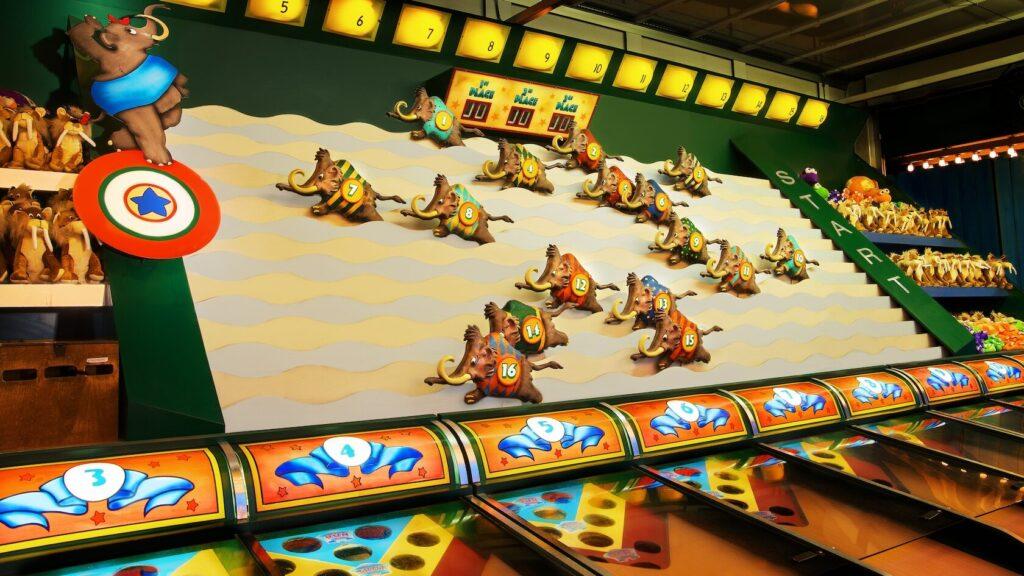 Mammoth racing game