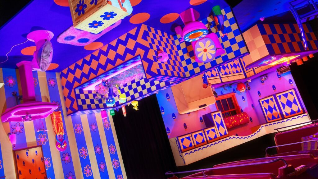 Upside down room with Figment