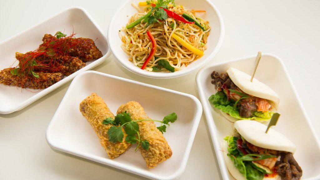 Asian Street Food on plates