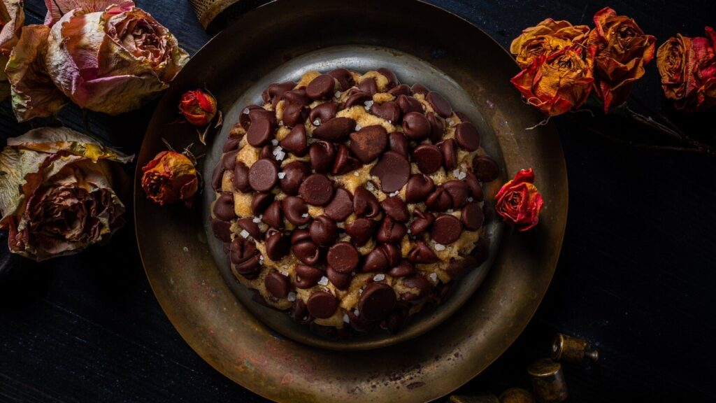 Chocolate cake with chocolate chips