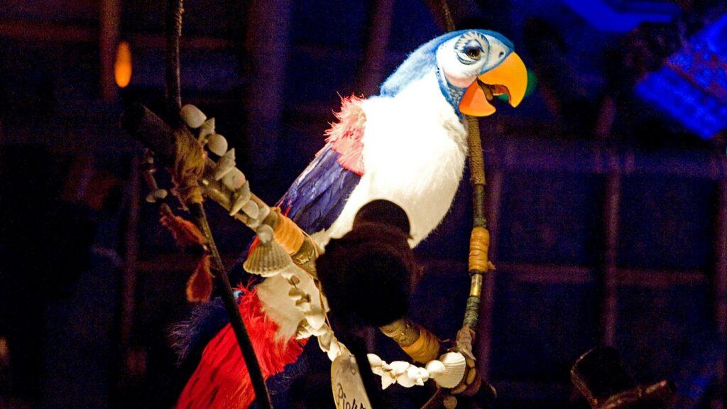 Audio-Animatronic Bird on perch
