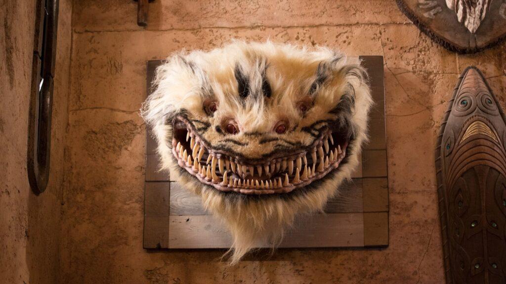 White fur creature head