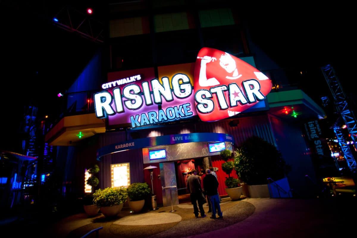 Rising Star signage at night